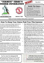 May 2013 Pest Control Newsletter