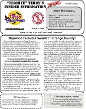 October 2013 Pest Control Newsletter