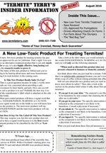 August 2016 Pest Control Newsletter