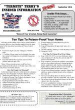 September 2016 Pest Control Newsletter