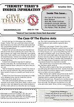 Pest Control Newsletter November 2016