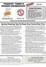 Pest Control Newsletter April 2017