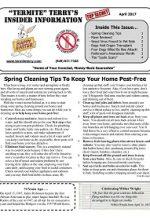 Pest Control Newsletter April 2017