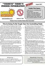 Pest Control Newsletter August 2017
