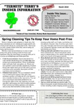 Pest Control Newsletter March 2018