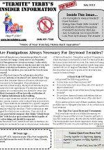July 2013 Pest Control Newsletter