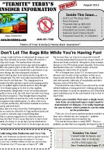 August 2013 Pest Control Newsletter