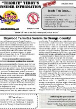 October 2013 Pest Control Newsletter