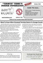 Pest Control Newsletter October 2018