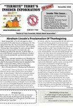 Pest Control Newsletter November 2018